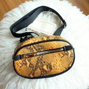 Like Dreams Snakeskin Belt Bag